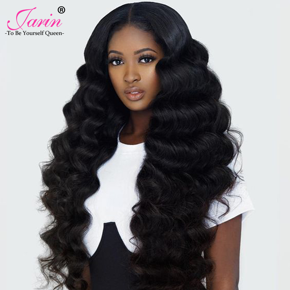 JARIN 4 Bundles Deal Human Hair Weave 400G/Lot Brazilian Body Wave 8-28 inches Hair Bundle Double Weft Remy Hair Extensions #1B