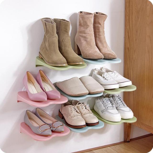 Entrance Paste Wall Hanging Shoe Hanger Creative Home Living Room Bathroom Plastic Shoes Save E Storage