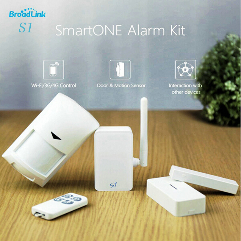 Original Broadlink S1C S1 Kit Smart Hub Alarm System 433MHz Rf Wireless Door Sensor Motion Detector Smart Control by Internet