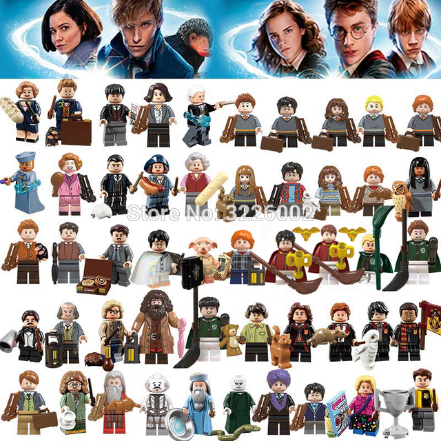 For Legoing Harri potter Figures Fantastic Beasts Rubeus Dobby Hagrid Seamus Finnigan Hermione Bricks Model building Blocks Toys