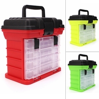 26x15x25cm Portable 4 Layer Carp Fishing Tackle Boxes Fishing Reel Line Lure Tool Storage Box