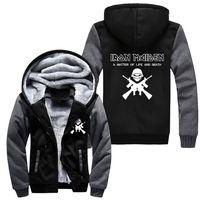 Großhandel UNS Größe Iron Maiden Winter Frauen Männer Hoodie Britische Heavy Metal Band Fleece-kapuzenjacke Casual Sweatshirts Sportwear