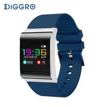 Diggro DB-01 Akıllı Bilezik Renk OLED Ekran Kan Basıncı, Kan Oksijen Monitörü Nabız Android iOS için Smartband