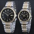 Mulheres Relógios Em Aço Inoxidável de alta Qualidade Casais Amantes Assistir Senhoras Par Relógio De Pulso Dos Homens Relógios