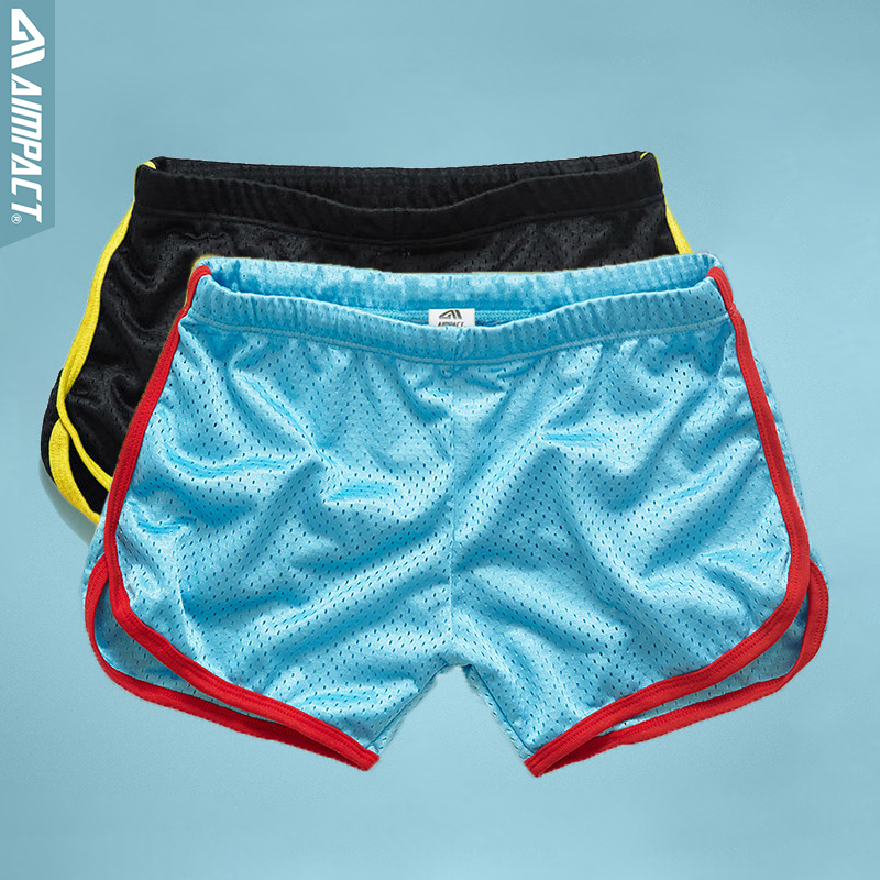 Aimpact 2pcs/lot Mesh Shorts For Men Fast Dry Vacation Beach Swimi Shorts Summer Casual Sporty Active Trunks Male 2AMC11