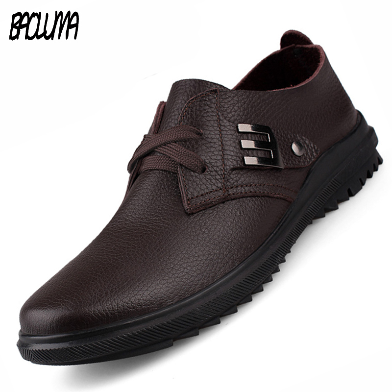 Luxury Brand Men Shoes England Trend Leisure Leather Loafers Italy Lace Shoes Breathable Male Footwear Men Flats Big Size 37-47 men luxury brand new genuine leather shoes fashion big size 39 47 male breathable soft driving loafer flats z768 tenis masculino