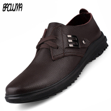Luxury Brand Men Shoes England Trend Leisure Leather Loafers Italy Lace Shoes Breathable Male Footwear Men Flats Big Size 37-47
