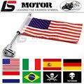 Bandeira motocicleta pólo bagagem vertical americano para honda goldwing gl1800 2001-2011