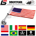 Motorcycle Flag Pole Luggage Rack Vertical American For Honda GoldWing GL1800 2001-2011