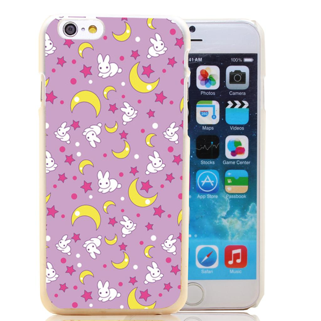 1443-HOQE sailor moon pattern Transparent Hard Case Cover for iPhone 6 6s plus 5 5s 5c 4 4s Phone Cases