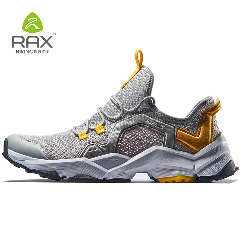 Rax Man's Hiking Shoes Breathable Outdoor Sport Sneakers For Men Original Trekking Camping Shoes Chaussure Randonnee Homme rax camping