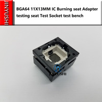 Opentop 100%New&Original BGA64 11*13MM  IC Burning seat Adapter testing seat Test Socket test bench in stock free ship|Networking Tools|Computer & Office -
