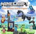 CALIENTE. Lo Nuevo Juego Minecraft 10 unids/set Minecraft Steve Alex Zombie Esqueleto Enderman Figuras de Acción Juguetes Regalo de Cumpleaños