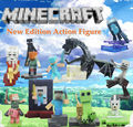 HOT.Newest Minecraft Game 10pcs/set Minecraft Steve Alex Zombie Skeleton Enderman Action  Figure Toys  Birthday  Gift