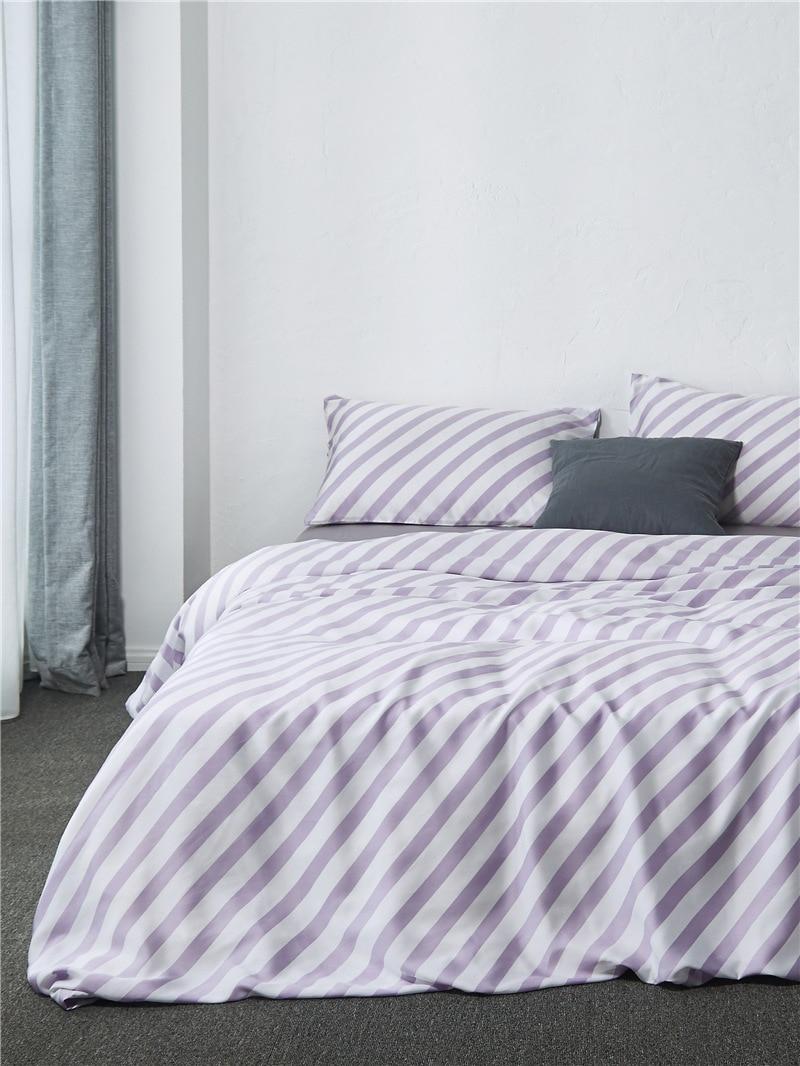 comforter bedding sets simple stripe duvet cover bed sheet cotton tencel housse de couette flowers princess drap de lit