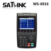 Натуральная! SZ Satlink WS 6916 сатфайндер DVB S2 MPEG 2/MPEG 4 WS 6916 Высокое разрешение метр TFT ЖК дисплей Экран