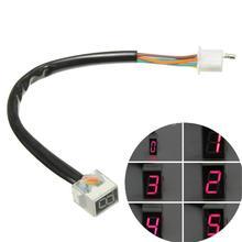 VODOOL Универсальный светодиодный индикатор для мотоцикла, цифровой индикатор переключения передач, дисплей для скутера 0-5 уровня, рычаг переключения передач, датчик скорости, дисплей, индикатор