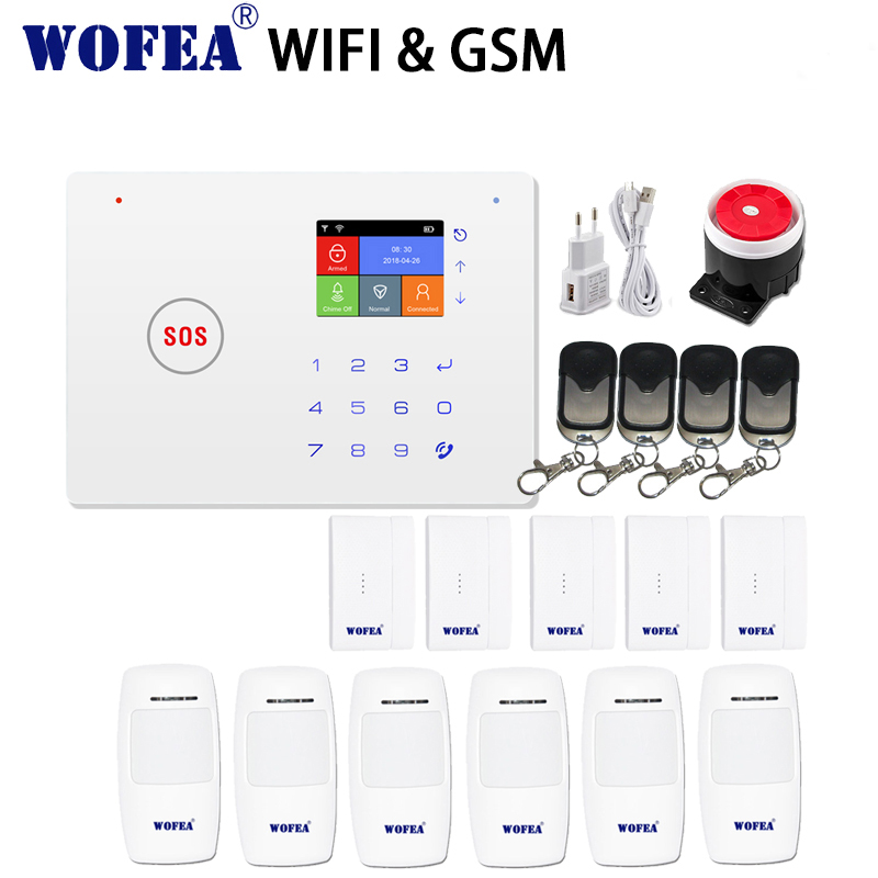 2.4G smart home security wifi gsm alarm system Android/IOS APP touch keyboard voice prompt SMS & auto dial
