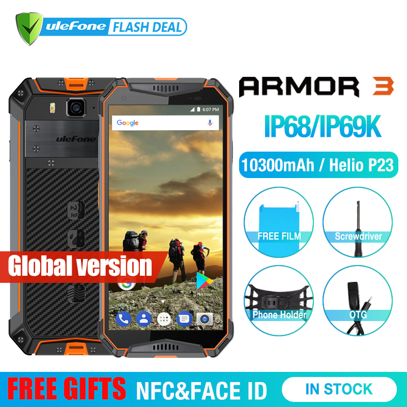 Ulefone Armadura 3 IP68 Android8.1 Telefone Celular À Prova D' Água 5.7