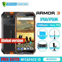 Ulefone Armor 3 телефон смартфон телефоны смартфоны IP68 Водонепроницаемый мобильный телефон Android8.1 5,7