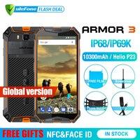 Ulefone Armor 3 телефон смартфон телефоны смартфоны IP68 Водонепроницаемый мобильный телефон Android8.1 5,7 FHD + Octa Core 4 GB + 64 GB NFC 21MP 10300 mAh Глобальный Версия