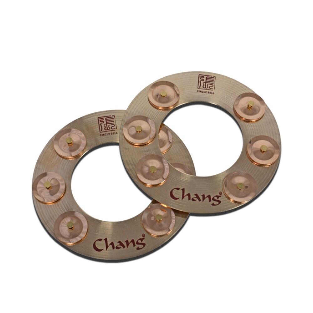 Chang 9 effet cymbale Cricel cloche ensemble de tambour Jingle cerceau cymbales accessoiresChang 9 effet cymbale Cricel cloche ensemble de tambour Jingle cerceau cymbales accessoires