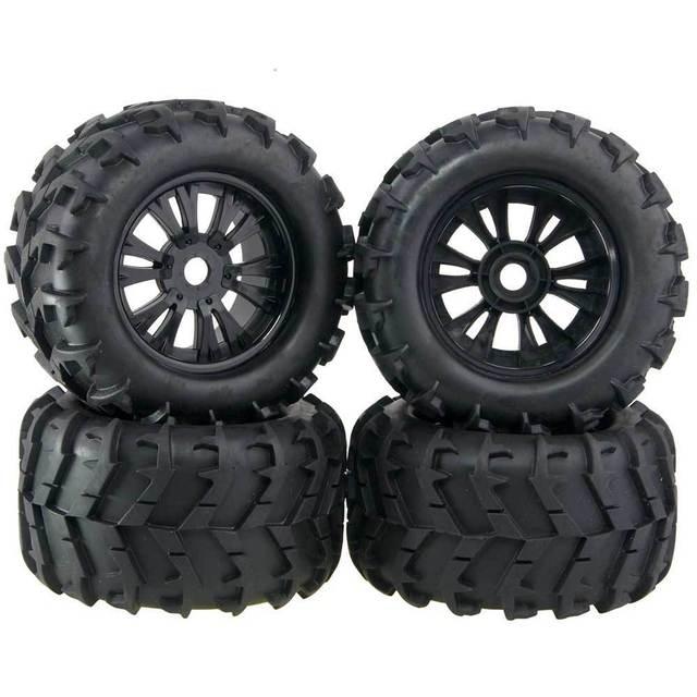 4Pcs 3.2 Rubber RC 1/8 Monster Truck Wheels & Tires 150mm For 17mm Hex Hub Mount For Traxxas HSP HPI Baja Tyre
