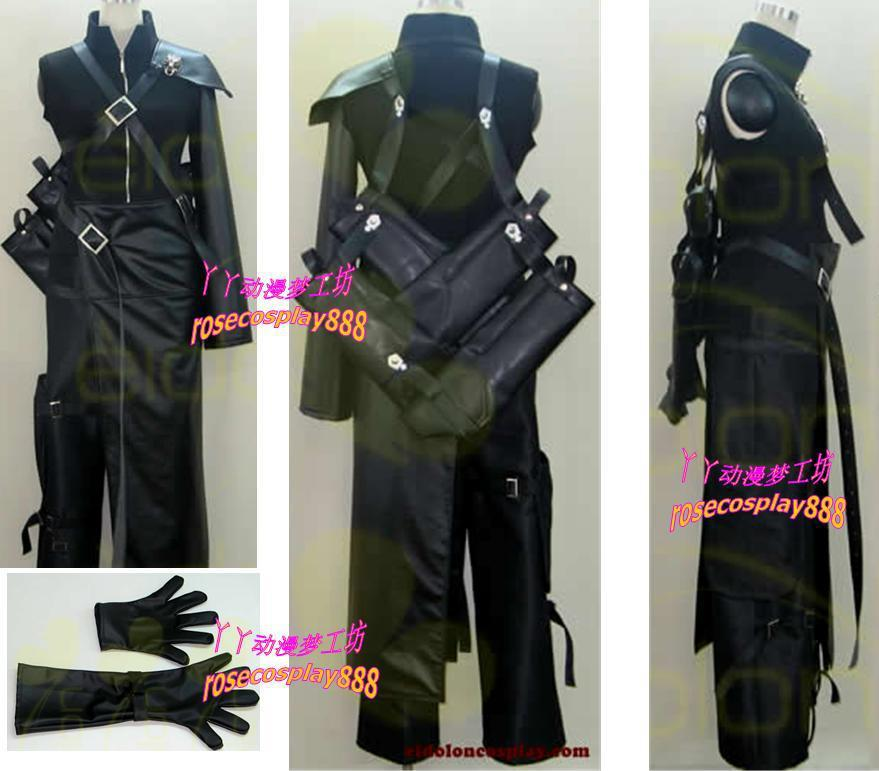 Final Fantasy VII Cloud Strif FF01 Cosplay Costume Custom Made Free Shipping-in Anime Costumes from Novelty & Special Use    1