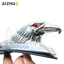 Motorcycle Accessories Chrome Eagle Head Ornament Statue For Motorbike Front frames&fitting Car Bonnet Light 2 color