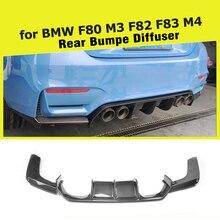 Задний диффузор, спойлер, бампер, защита для BMW F80 M3 F82 F83 M4, Бампер-, седан, купе, конвертируемое углеродное волокно/FRP