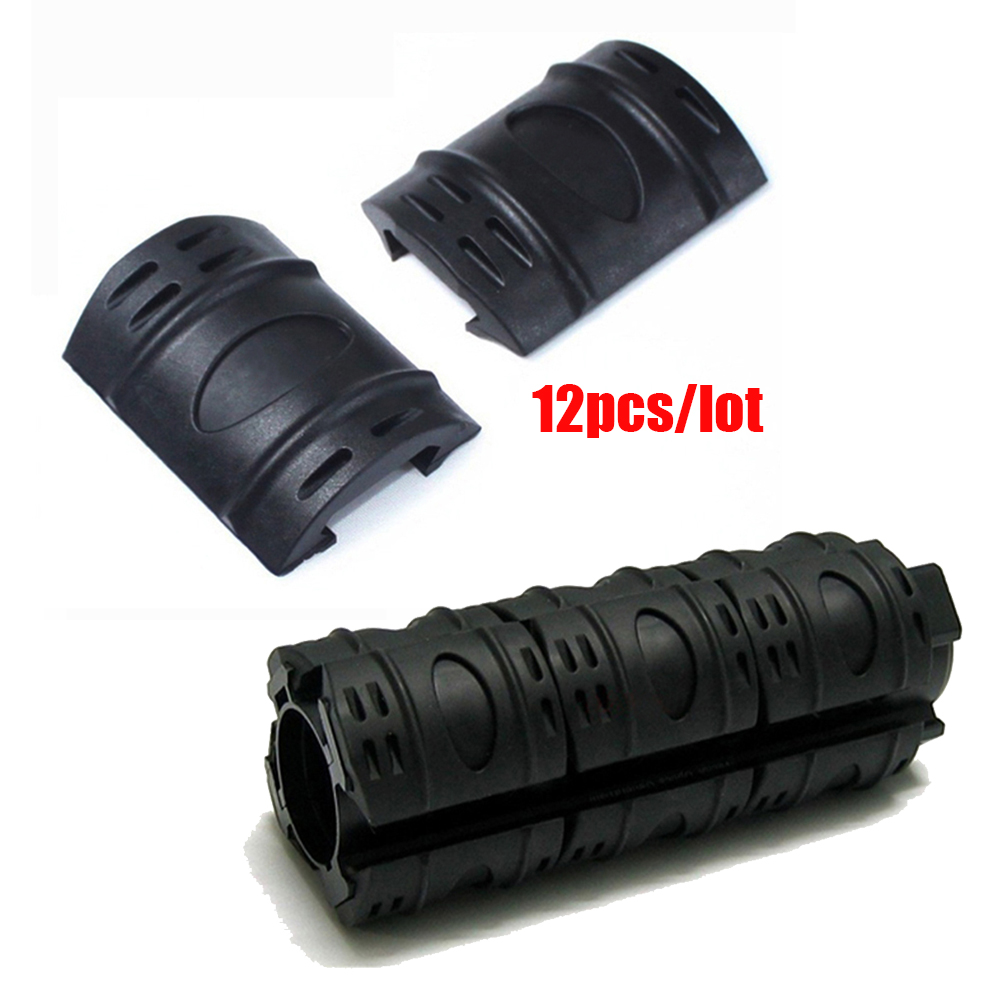 Gummistaktisk Picatinny Hand Guard Quad Rail Covers Rubber Weaver Rail Covers 12st Set.