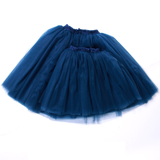Mommy & Me Outfits Set Ballerina Matching Tutu Puffy Midi Tulle Skirts for Mother and Daughter Flower Girl Toddler Wedding Photo