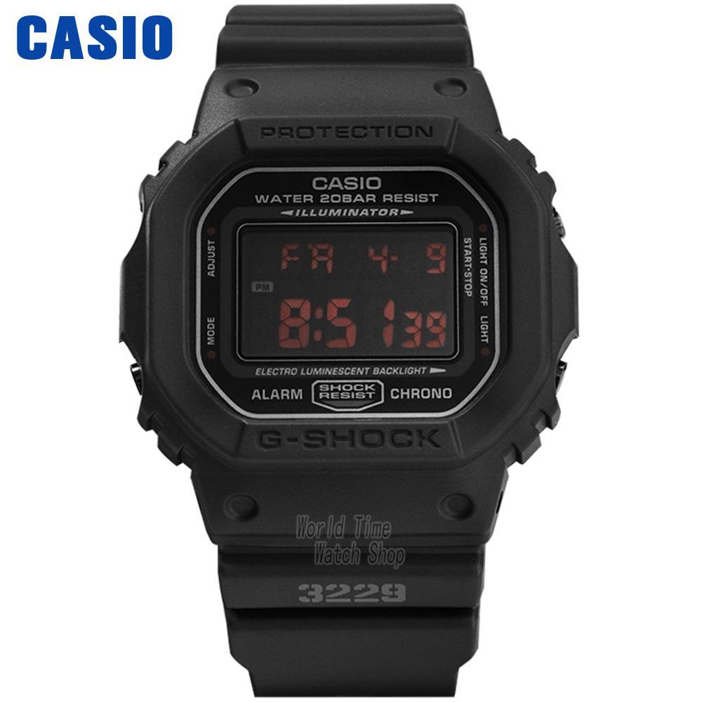 Casio watch Multifunctional Sport Student Electronic Watch DW-5600MS-1D DW-5600BBN-1D DW-5600E-1V casio часы casio dw 5600e 1v коллекция g shock