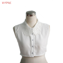 YSMILE Y Women Blouse Clothes Accessories Vintage Luxury Lace Floral Adult Detachable Lapel Shirt Sweater Fake Collar 2269