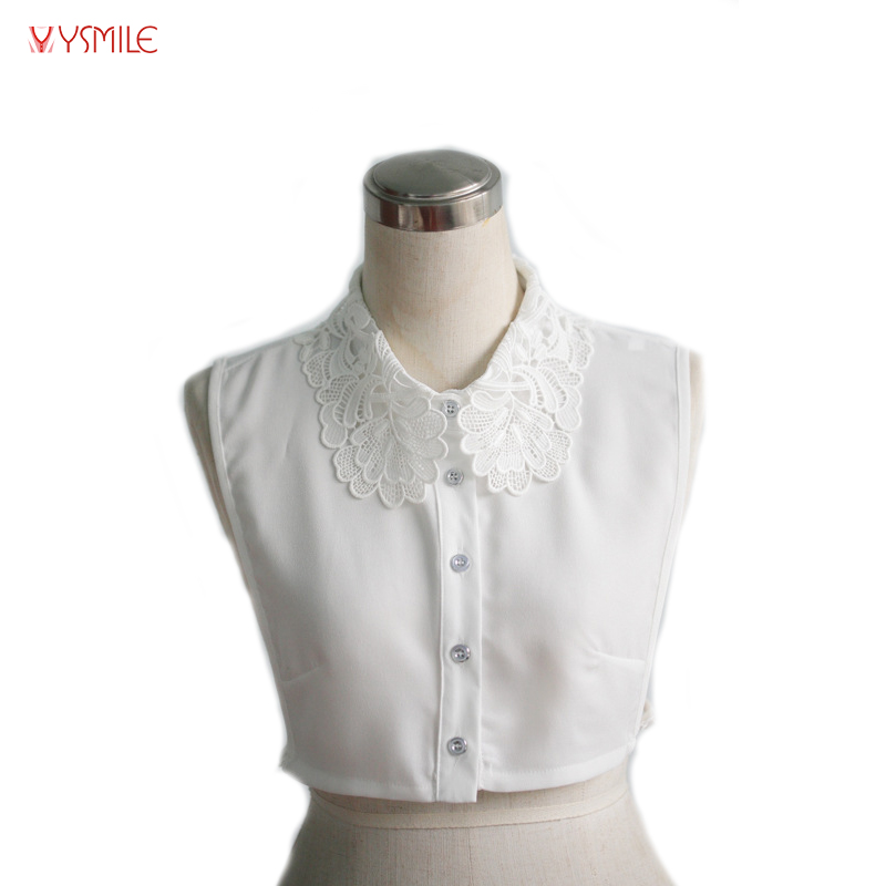 YSMILE Y Women Blouse Clothes Accessories Vintage Luxury Lace Floral Adult Detachable Lapel Shirt Sweater Fake Collar 2269