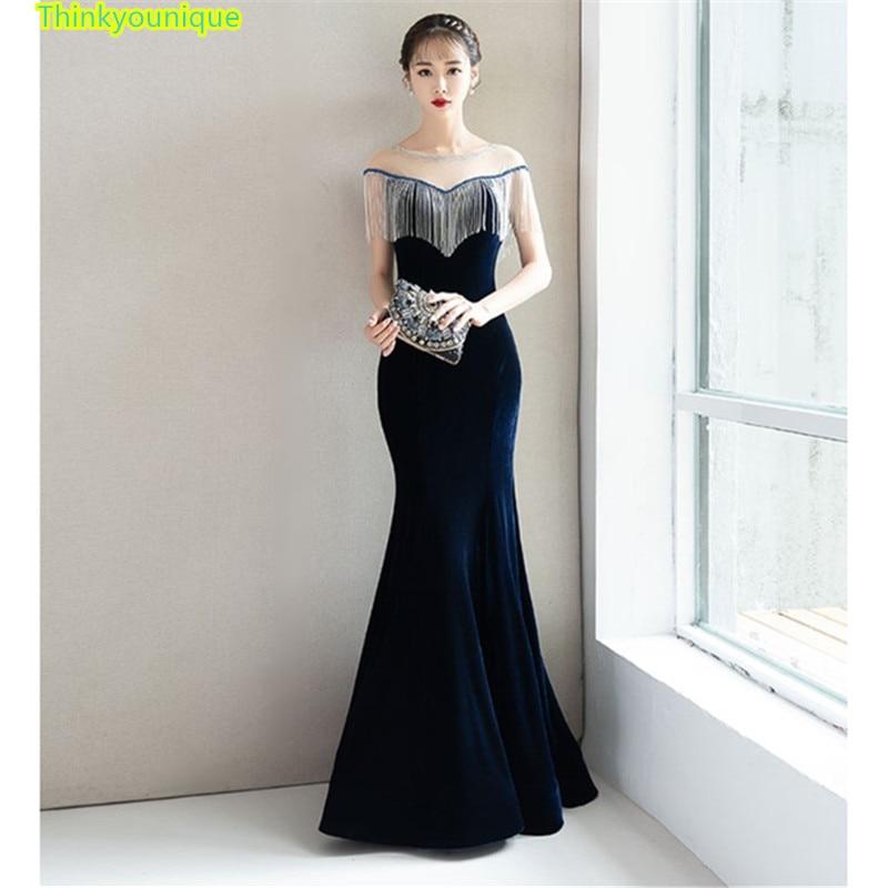 Party Gown Formal Long   Evening     dresses   vestido de festa longo robe de soiree vestidos de novia abendkleider Mermaid   dress   SM016