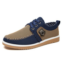 Autumn fashion mens shoes low-cut casual everyday tooling comfortable breathable canvas