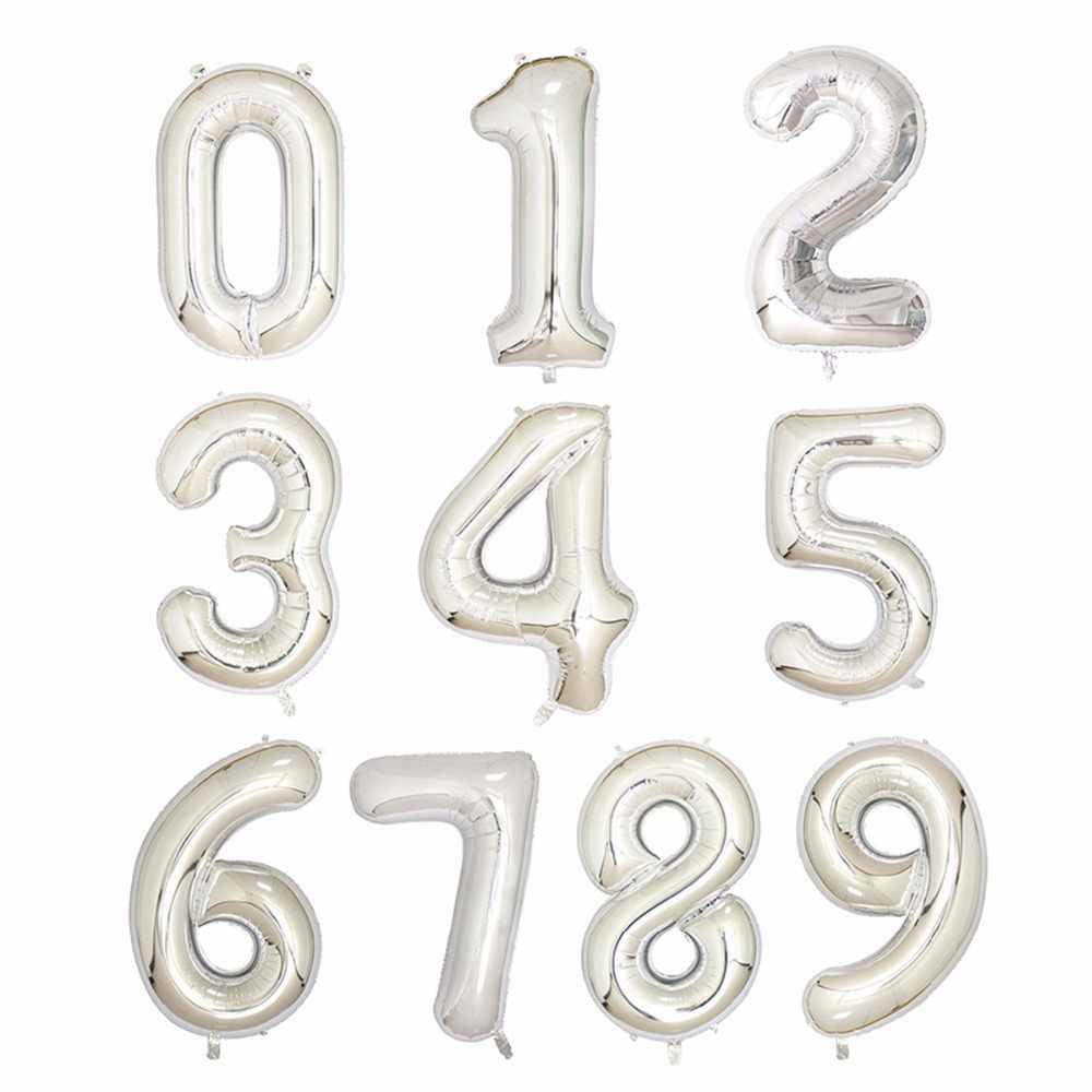 Hot Sale 40 polegada um Balão de alumínio Grande Número de Balões de Hélio para a Decoração Do Casamento da Festa de Aniversário favores Ouro Prata rosa azul