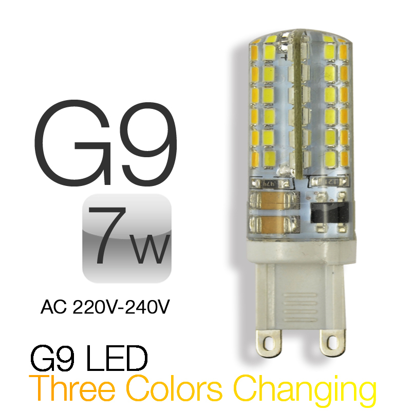 5pcs 3 Colors Changing G9 Led 7w 220v 1 Bulb Include 3000k