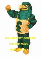 Сокол костюм талисмана Оптовая продажа высокого качества длинные плюшевые зеленый Сокол Орел Птица Тема Спорт аниме карнавал необычные 2752