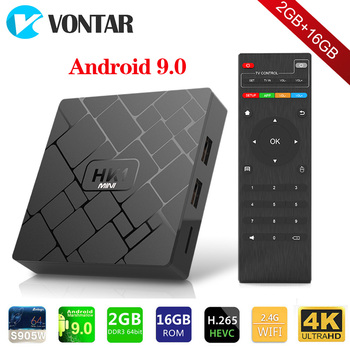 Android 9.0 Smart TV BOX HK1 mini 2GB 16GB Rockchip RK3229 Quad core WIFI H.265 HEVC 4K 3D Set Top Box Media Player