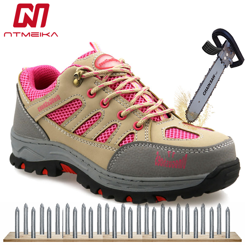 Acero Zapatos De Comprar Con Seguridad La Mujeres Cuero Pu Las Punta Y4v5q1
