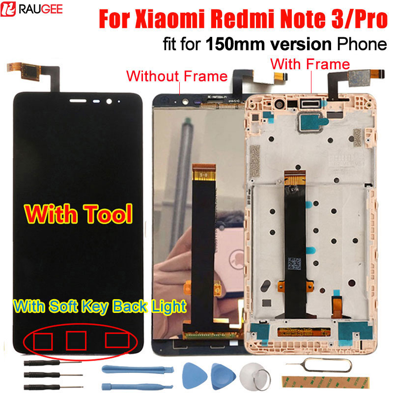 Xiaomi Redmi Nota 3 LCD Touch Screen Display + Touch Screen del Pannello 147mm Digitizer Accessorio Per Xiaomi Redmi Nota 3 pro Prime 150mm 5.5'