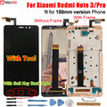 Xiaomi Redmi Note 3 Touch Screen LCD Display +Touch Panel 147mm Digitizer Accessory For Xiaomi Redmi Note 3 Pro Prime 150mm 5.5'