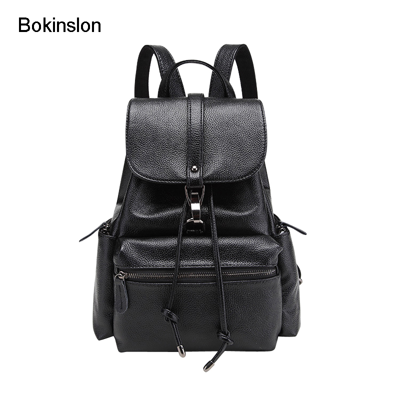 Bokinslon Bag Women Backpack Fashion Casual Woman Bag Simple College Wind Ladies Double Shoulder Backpack