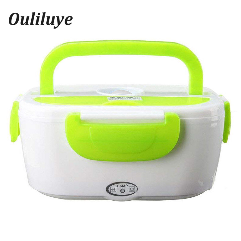 Portable Lunch Box Plastic EU For 220V Electric Heating Warmer Food Container Home Office  Use Bento