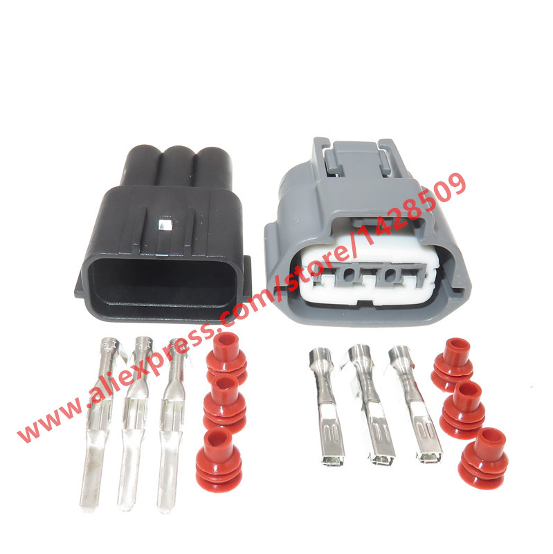 10 Sets 3 Pin Female Male Waterproof Automotive Sensor Connector Plug Ignition Coil Socket For Nissan BYD F0 6189-0779
