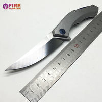 BMT Ganzo Blue Moon Tactical Ball Bearing Folding Knife D2 Blade Knife Steel Handle Outdoor Knives
