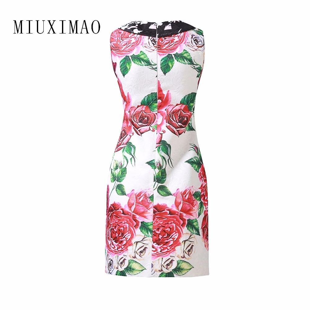 Mode Femmes cou Genou Sans O Plus Nouvelle Taille Imprimer Du Réservoir Custom Elengant Manches Robe D'été A dessus 2018 ligne x1vYnHFwq