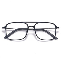 Super Light Square ULTEM Eyeglasses Double Beam Glasses Frame Men and Women Models Tide Big Face Comfortable 7g